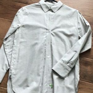 Light gray long sleeve blouse
